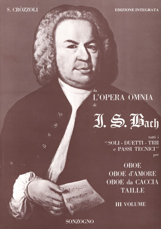 BACH - Da opera omnia di JS Bach Volume 3 - Oboe - Partition - di-arezzo.co.uk