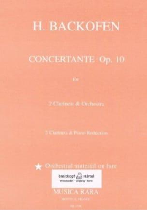 Concertante op. 10 -2 clarinets piano - laflutedepan.com