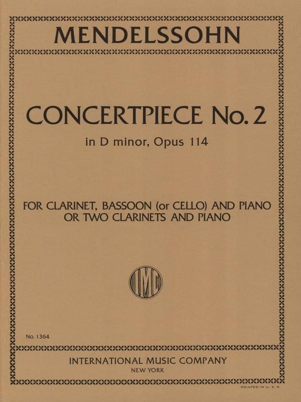 Concertpiece N° 2 Op. 114 -2 Clarinettes Piano - laflutedepan.com