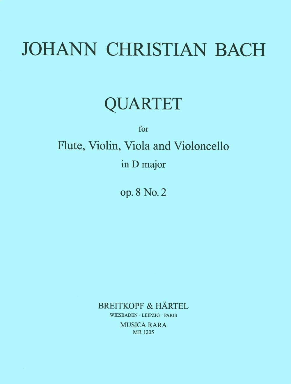 Quartet op. 8 n° 2 -Flute violin viola cello - Parts - laflutedepan.com