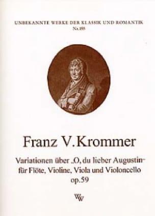 Franz Krommer - Variationen op. 59 über O, Augustin lieber - Partition - di-arezzo.com