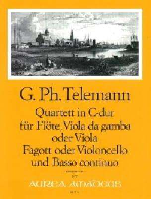 Quartett C-Dur - Flöte Viola da gamba Fagott BC - laflutedepan.com