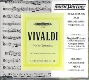 Sechs Sonaten Volume 1 / CD - Vcelle & Bc - VIVALDI - laflutedepan.com