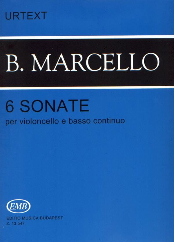 Benedetto Marcello - 6 Sonatas for cello and basso continuo - Partition - di-arezzo.co.uk