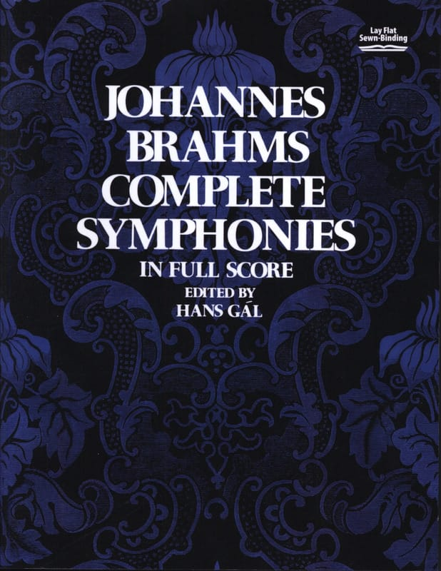 BRAHMS - Complete Symphonies - Full Score - Partition - di-arezzo.co.uk