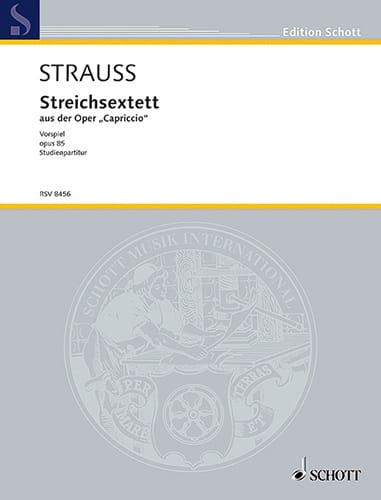 Richard Strauss - Streichsextett aus der Capriccio op. 85 - Partitur - Partition - di-arezzo.co.uk