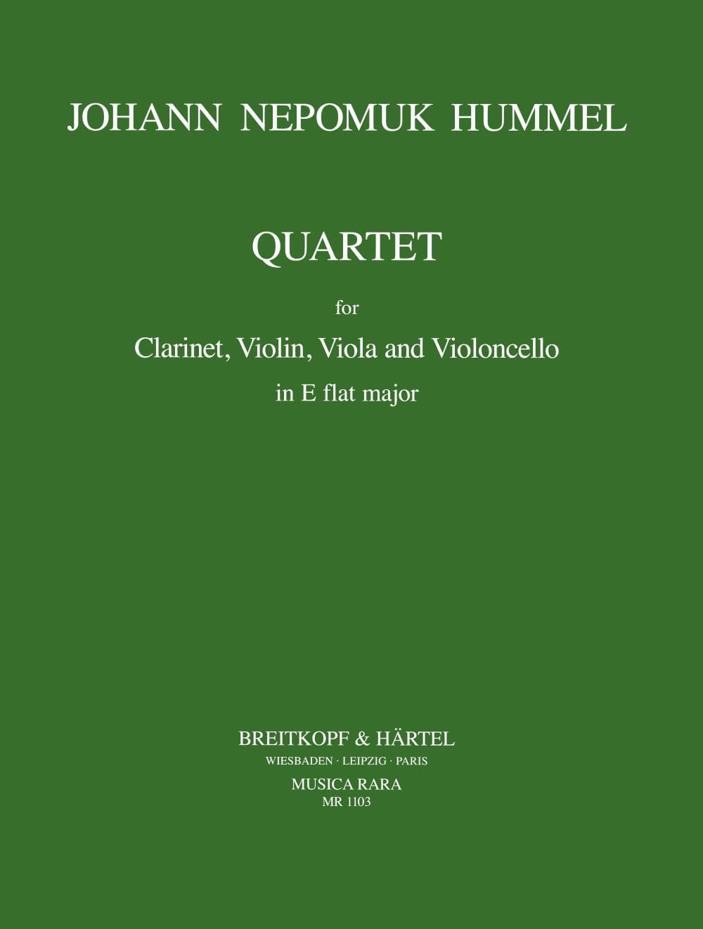 Quartet E flat maj. - Clarinet violin viola cello - laflutedepan.com