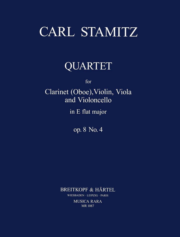 Quartet E flat maj. op. 8 n° 4 -Clarinet violin viola cello - laflutedepan.com