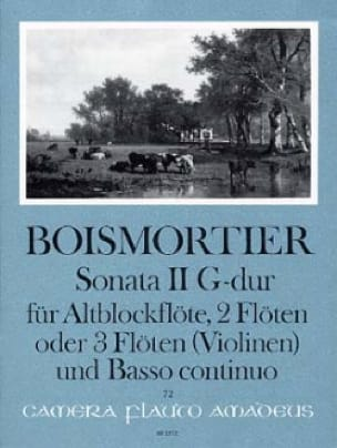 Sonata Nr. 2 G-Dur -Altblockflöte 2 Flöten u. BC - laflutedepan.com