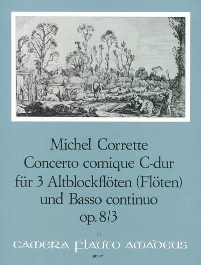 Concerto comique in C-Dur op. 8 n° 3 - 3 Altblockflöten BC - laflutedepan.com