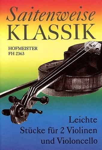 Leichte Stücke für 2 Violinen Cello - laflutedepan.com