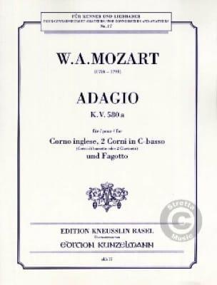 Adagio KV 580a -Corno ingelse, 2 Corni in C-basso Fagotto - laflutedepan.com