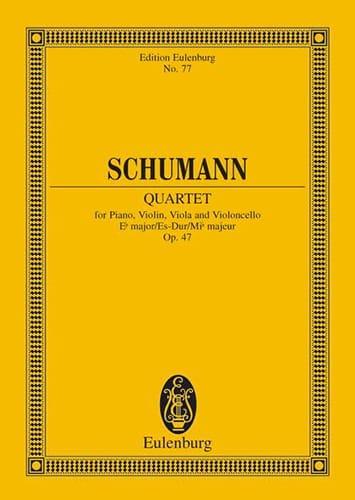 SCHUMANN - Quartett Es-Dur Op. 47 - Conductor - Partition - di-arezzo.es