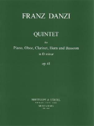 Quintet d minor op. 41 -Piano oboe clarinet cor et basson - laflutedepan.com