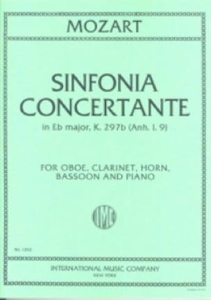 Sinfonia concertante KV 297b Anh. 1. 9 -oboe clarinette cor, bassoon piano - laflutedepan.com
