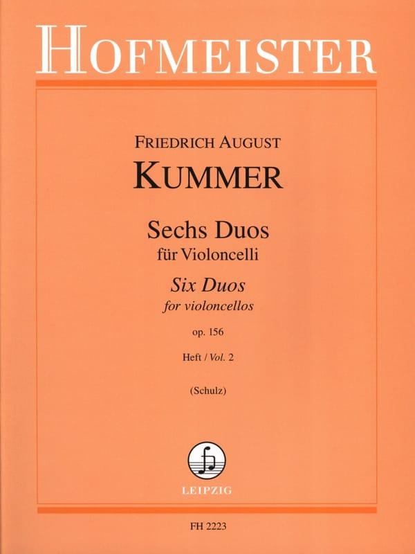 6 Duos op. 156, Volume 2 - Friedrich-August Kummer - laflutedepan.com