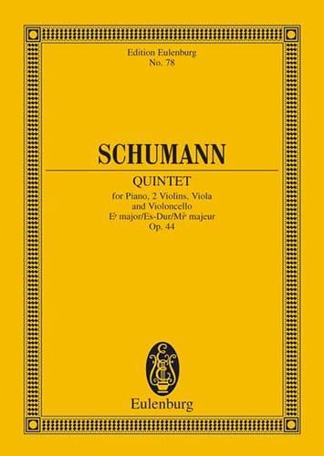 SCHUMANN - Quintett Es-Dur, Op. 44 - Conductor - Partition - di-arezzo.es