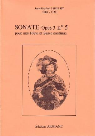 Sonate Opus 3 N° 5 - LOEILLET - Partition - laflutedepan.com