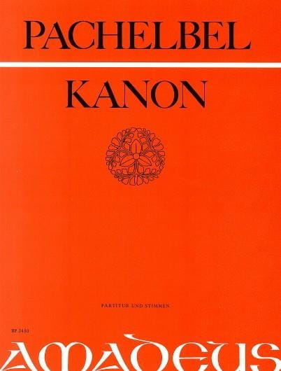 Johann Pachelbel - Canon - 3 violinen u. Bajo - Partitur Stimmen - Partition - di-arezzo.es