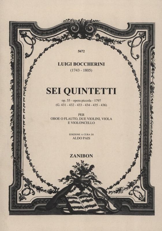 6 Quintettes, Op. 55 - Hautbois Ou Flûte-Quatuor A Cordes - laflutedepan.com