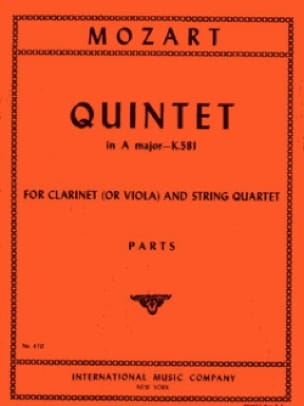 Quintet A major KV 581 Clarinet viola string quartet -Parts - laflutedepan.com