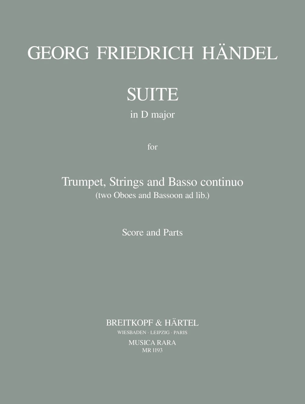 Suite in D major - Trumpet strings BC - HAENDEL - laflutedepan.com