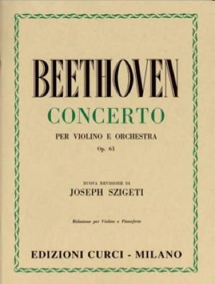 Concerto pour Violon op. 61 - BEETHOVEN - Partition - laflutedepan.com