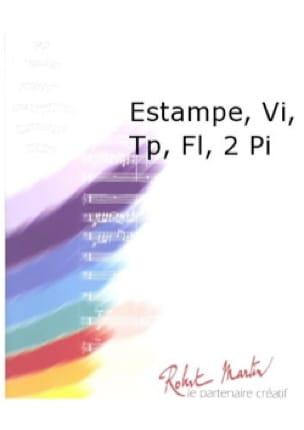 Estampe - Conducteur + parties - Thierry Pécou - laflutedepan.com