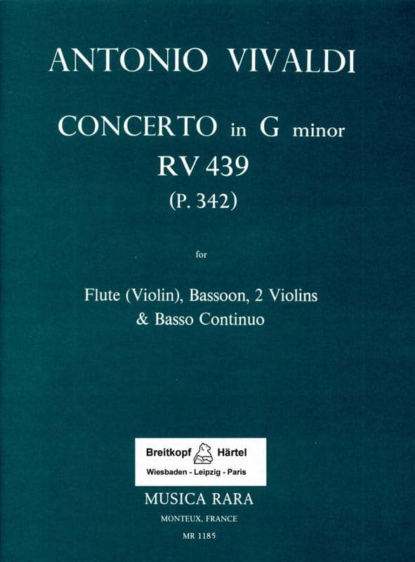 Concerto in G minor RV 439 P 342 -Flute bassoon 2 violins Bc - laflutedepan.com