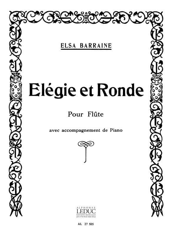 Elegie et Ronde - Elsa Barraine - Partition - laflutedepan.com