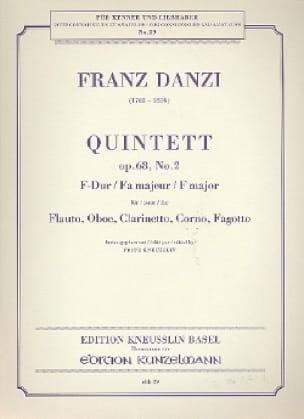 Quintett F-Dur op. 68 Nr. 2 -Stimmen - Franz Danzi - laflutedepan.com