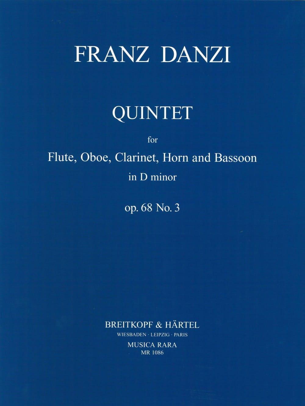 Quintet D minor op. 68 n° 3 -Parts - Franz Danzi - laflutedepan.com