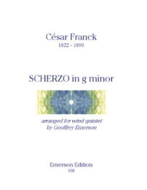 Scherzo in G minor -Wind quintet - Parts - FRANCK - laflutedepan.com