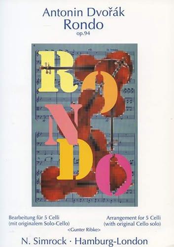 DVORAK - Rondo op. 94 - 5 Celli - Partition - di-arezzo.co.uk