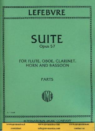 Suite op. 57 -Parts - Charles Edouard Lefebvre - laflutedepan.com