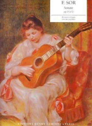 Sonate Guitare Op.15 N°2 - SOR - Partition - laflutedepan.com
