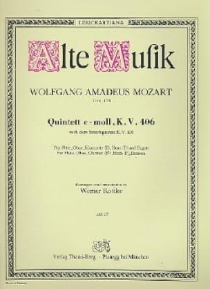 MOZART - Quintett c-moll KV 406 - Bläserquintett - Stimmen - Partition - di-arezzo.co.uk