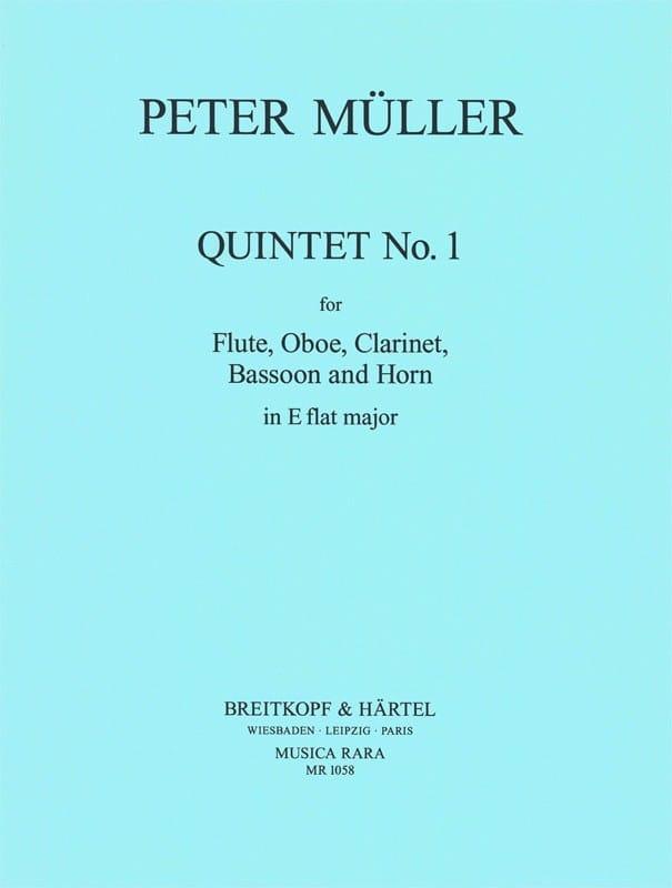 Quintet n° 1 in Eb -Parts - Peter Müller - laflutedepan.com