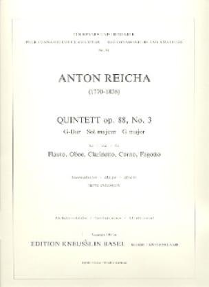 Bläserquintett op. 88 Nr. 3 G-Dur - Stimmen - laflutedepan.com