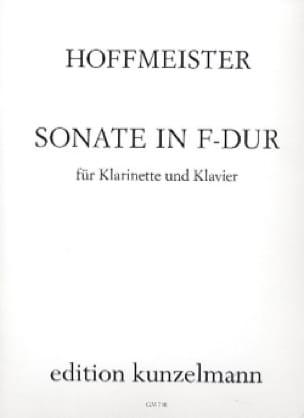 Franz Anton Hoffmeister - Sonata F Dur- Klarinette Klavier - Partition - di-arezzo.co.uk