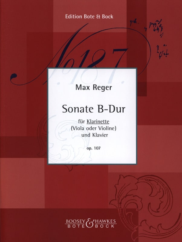 Max Reger - Sonata B-Dur Op. 107 - Klavier Klarinette - Partition - di-arezzo.co.uk