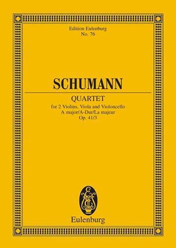 SCHUMANN - Streichquartett A-Dur Op. 41/3 - Conductor - Partition - di-arezzo.es