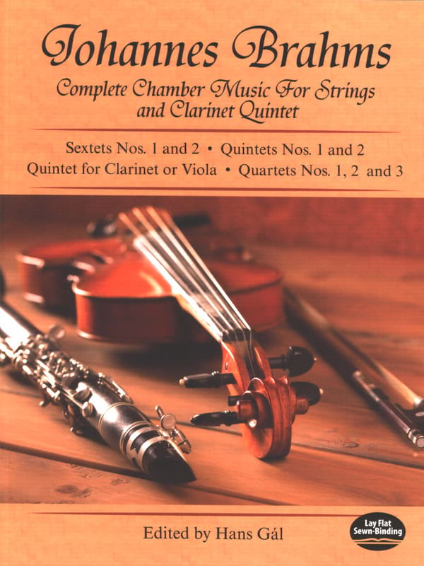 BRAHMS - Complete Chamber Music for Strings and Clarinet Quintet - Full Score - Partition - di-arezzo.co.uk