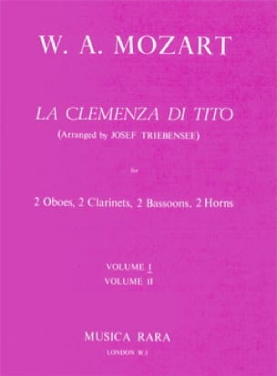 MOZART - The Clemenza of Tito Volume 1 - Harmoniemusik - Score parts - Partition - di-arezzo.co.uk