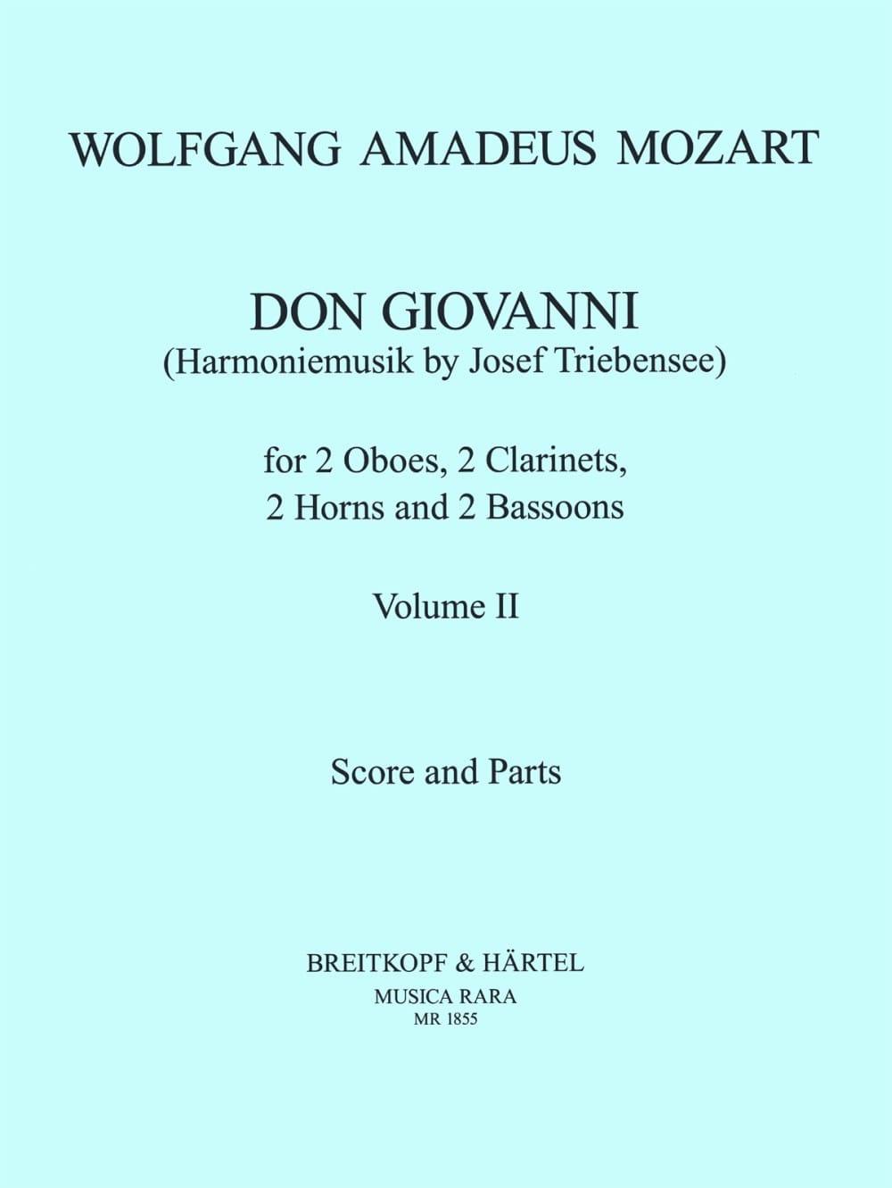 Don Giovanni Volume 2 -Harmoniemusik - Score + parts - laflutedepan.com