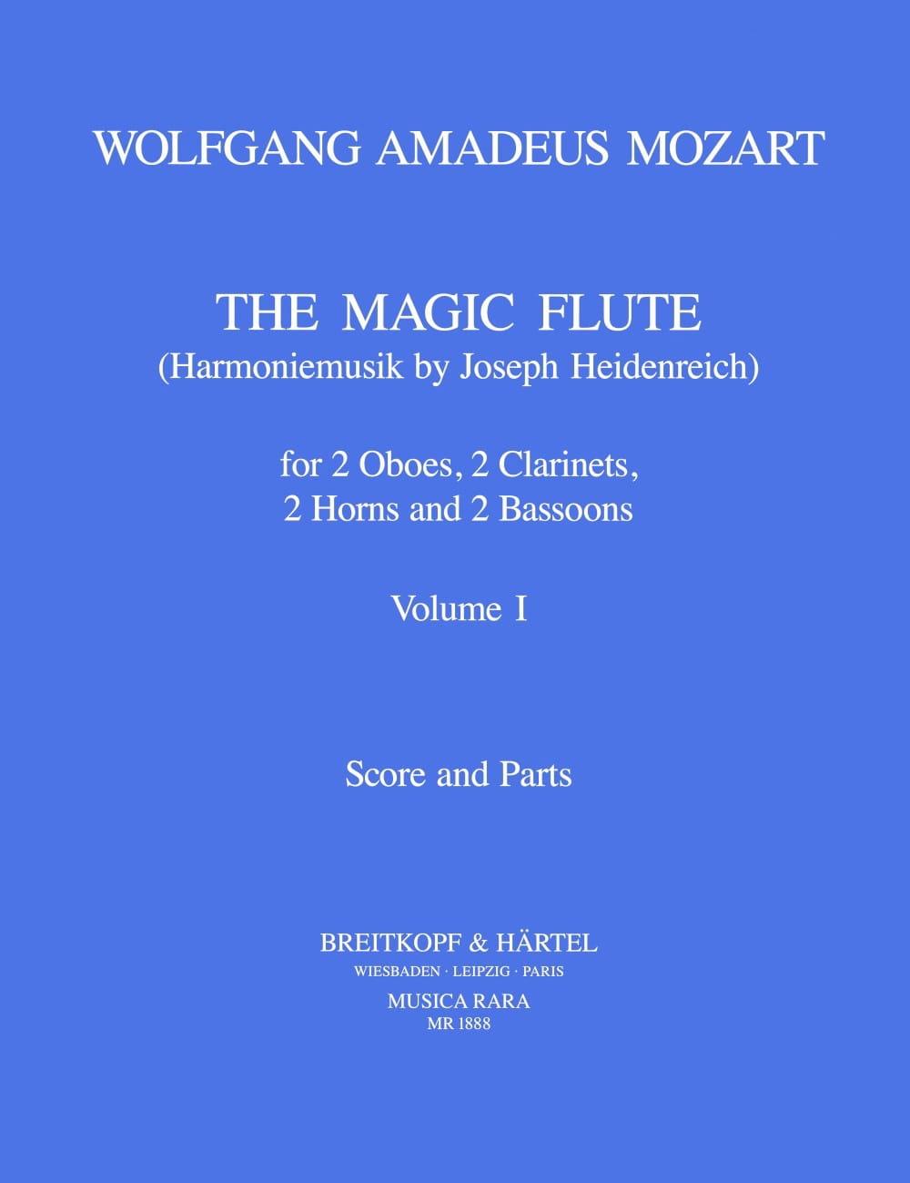 MOZART - The magic flute Volume 1 - Harmoniemusik - Score parts - Partition - di-arezzo.co.uk