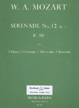 MOZART - Serenade No. 12 in minor KV 388 - Wind byte - Parts - Partition - di-arezzo.co.uk