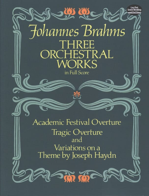 BRAHMS - 3 Orchestral Works - Full Score - Partition - di-arezzo.co.uk