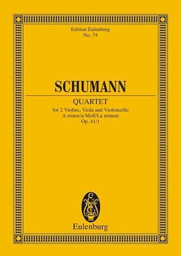 SCHUMANN - Streichquartett A-Moll Op. 41/1 - Conductor - Partition - di-arezzo.es