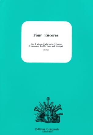 4 Encores - 2 Hautbois-2 Clarinettes-2 Cors-2 Bassons-Contrebasse-Trompette - laflutedepan.com